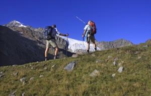 Zicht op de sulzenau-gletsjer