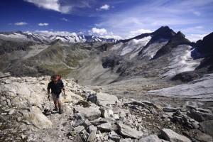 Richting de steile Gamsscharte