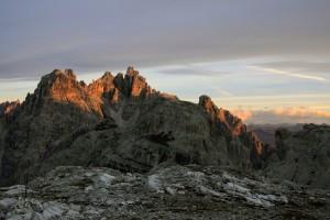 Het 'A;pengloeien' in de Dolomieten is onbeschrijfelijk mooi.