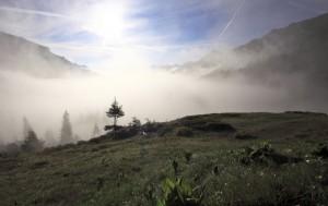 Ochtendstemming boven het Bregenzerwald