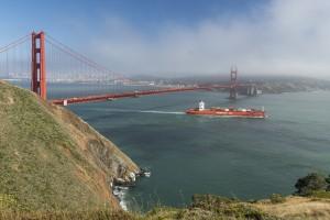De kust bij San Francisco