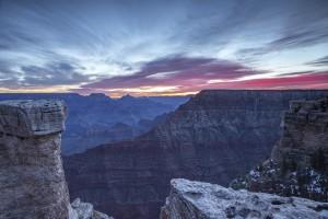 Woeste luchten boven de Grand Canyon
