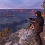 De zonsondergang vastleggen in de Grand Canyon