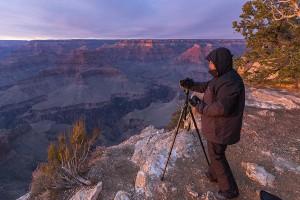 De zonsondergang vastleggen in de Grand Canyon